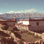 Lakeside village in Upper Tibet