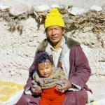 A lay practitioner with his son