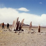 Large funerary pillars in southwestern Tibet