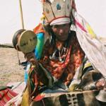 Upper Tibetan shaman in typical dress