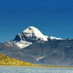 Mount Tise from the middle of Lake La Ngak