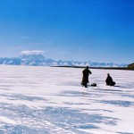 Crossing a huge expanse of ice with upwards of 300 m of water below