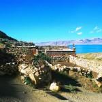 A village on the sacred Lake Dangra