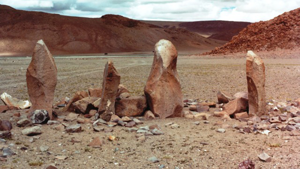 Fig. 11. Here is a row of ancient standing stones that can hold its own with modern sculpture