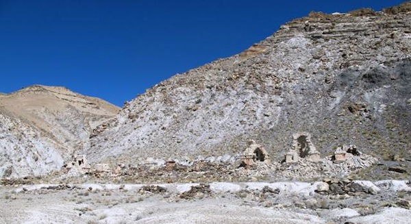 Fig. 4. The recently vandalized chorten complex of Darkam. At this remote site the looters could work at leisure. They opened every single chorten, cleaning out with meticulous care every single repository.