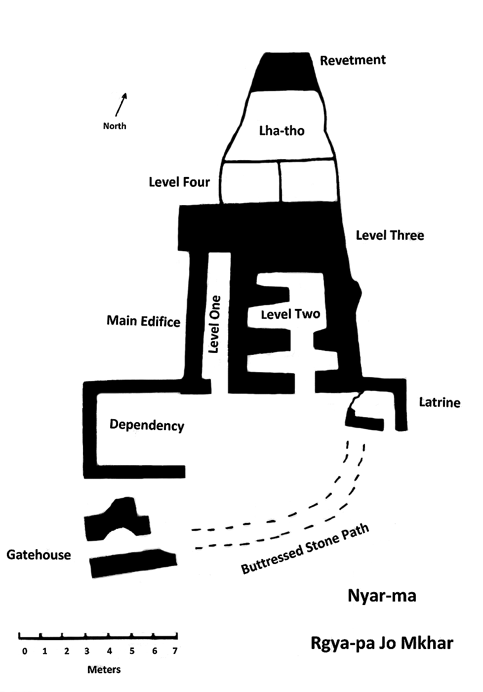 Fig. 16. A plan of Gyapa Jo Khar.