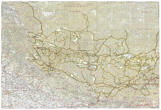 Upper Tibet Routes