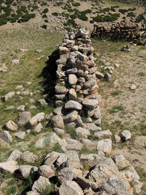 Fig. 6. An overhead view of a section of the double-course west wall of Dragu Tara.
