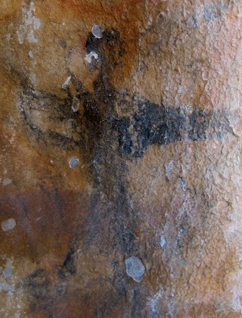 Fig. 15. A composite bird-human figure rendered in a black pigment. Possibly Early Historic period, eastern Changthang.