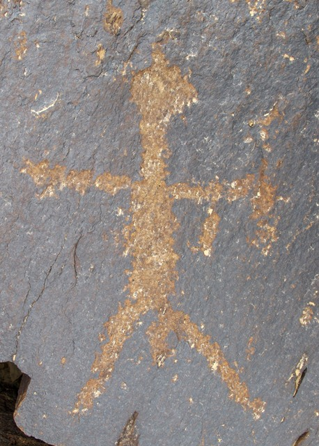 Fig. 41. Standing anthropomorph, legs and arms spread wide. Late Bronze Age or Iron Age, western Tibet.