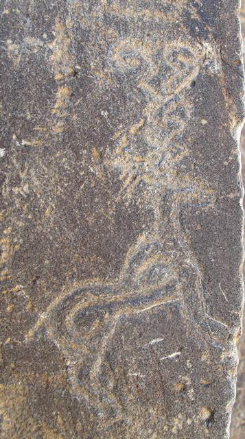 Fig. 33. One of the antelopes on the rock panel depicted in fig. 32.