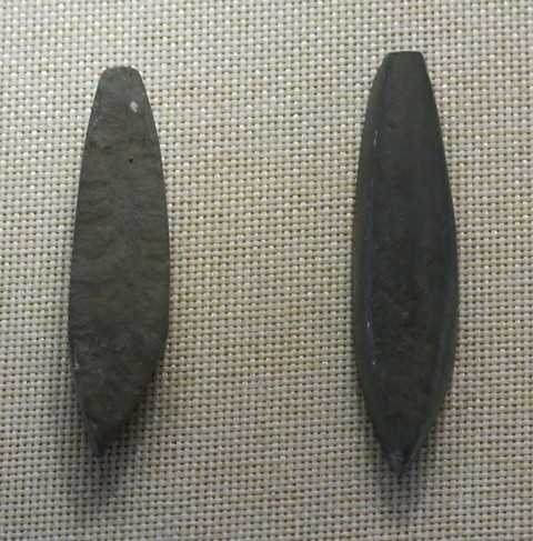 Fig. 4. Stone chisels, Metok (Me-tog) prefecture (southeastern Tibet). Late Neolithic. Tibet Museum collection.
