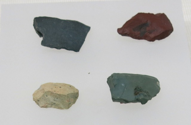Fig. 21. Microlithic flakes, Ngamring (Ngam-ring), Upper Tibet. Dated to 7000–5000 BP. Tibet Museum collection.