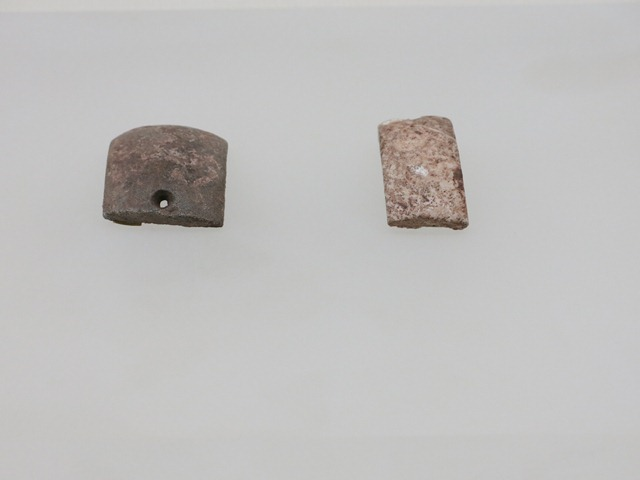 Fig. 45. Small tabular stone objects, Kharub, Chamdo. Middle or Late Phase of Neolithic (5300–4000 BP). Tibet Museum collection.