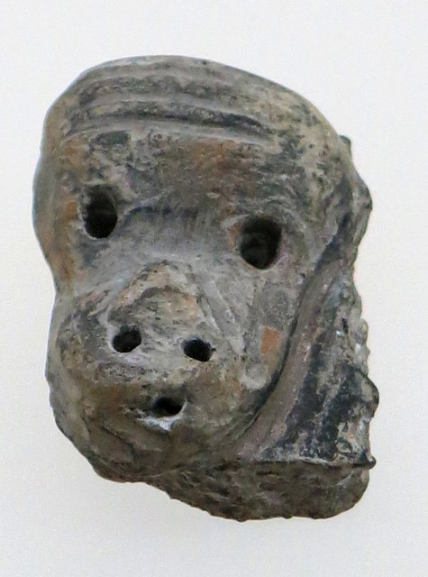 Fig. 50. A ceramic monkey-like head, Chugong, Lhasa. Late Neolithic (4000–3500 BP). Tibet Museum collection.