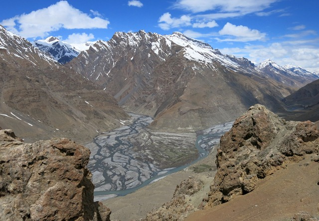 Fig. 3. The confluence of the Spiti and Pin rivers