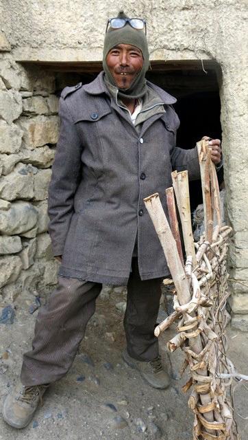 Fig. 5. Ngawang Tshering, the village doctor of Kibbar.