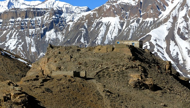 Fig. 21. The old Tengyü monastery, which was abandoned in 1975 after an earthquake cut off its water supply. The new Tengyü monastery is located in the village of Gongmik, approximately 15 km to the east.