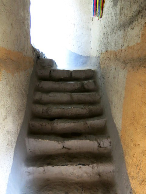 Fig. 24. The flight of steps between the first and second floors, Tenzin Tsultrim house.