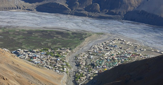 Fig. 25. A view of Kaza from high above the town.