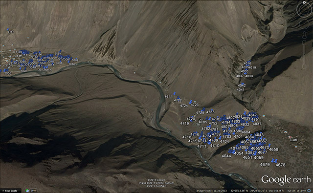 Click the image above to download a Google Earth placemark file with locations of all rock art boulders in Spiti.