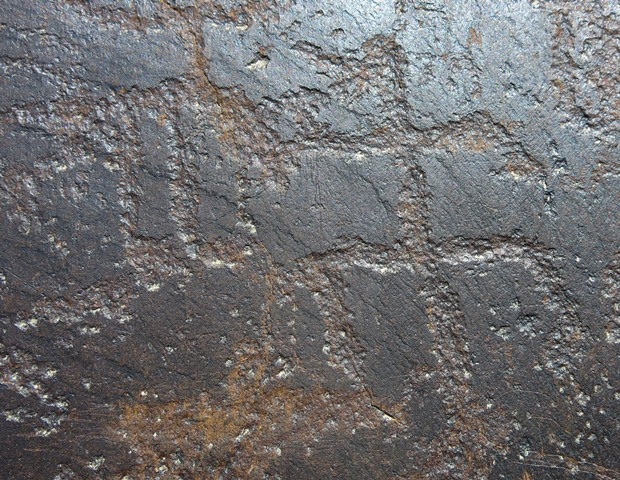 Fig. 6.5. Male anthropomorph on the same large rock panel as above. This probable human figure may be grasping something with its right hand. Iron Age.