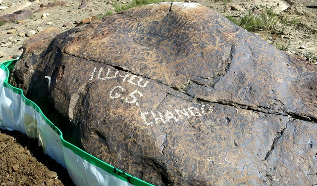 Fig. 11.23. Other side of the boulder in fig. 11.22.