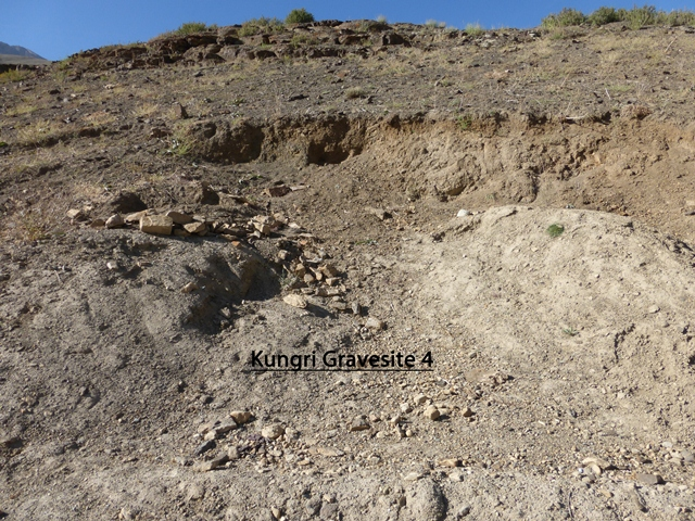 Fig. 25. Site of excavated tomb, Gungri. Photo courtesy of SRAHS.