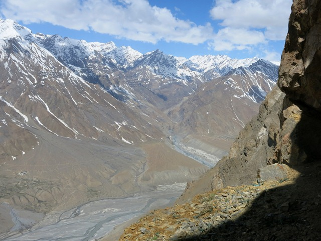 Fig. 28.1. The south mouth of Sinmo Khadang overlooking the Spiti river valley.