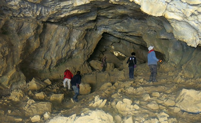 Fig. 28.2. Members of the Spiti Antiquities Expedition exploring Sinmo Khadang.