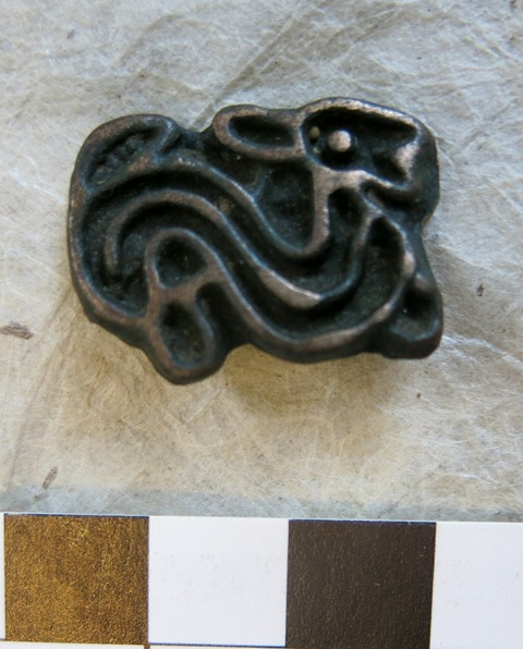 Fig. 9. Thokcha featuring what appears to be a hare (2.7 cm x 2 cm), Tibet. Iron Age or Protohistoric period. Private collection, UK.
