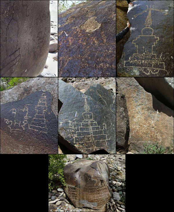 Fig. 16: Tibetan inscriptions at Kharool. [Q. Devers]